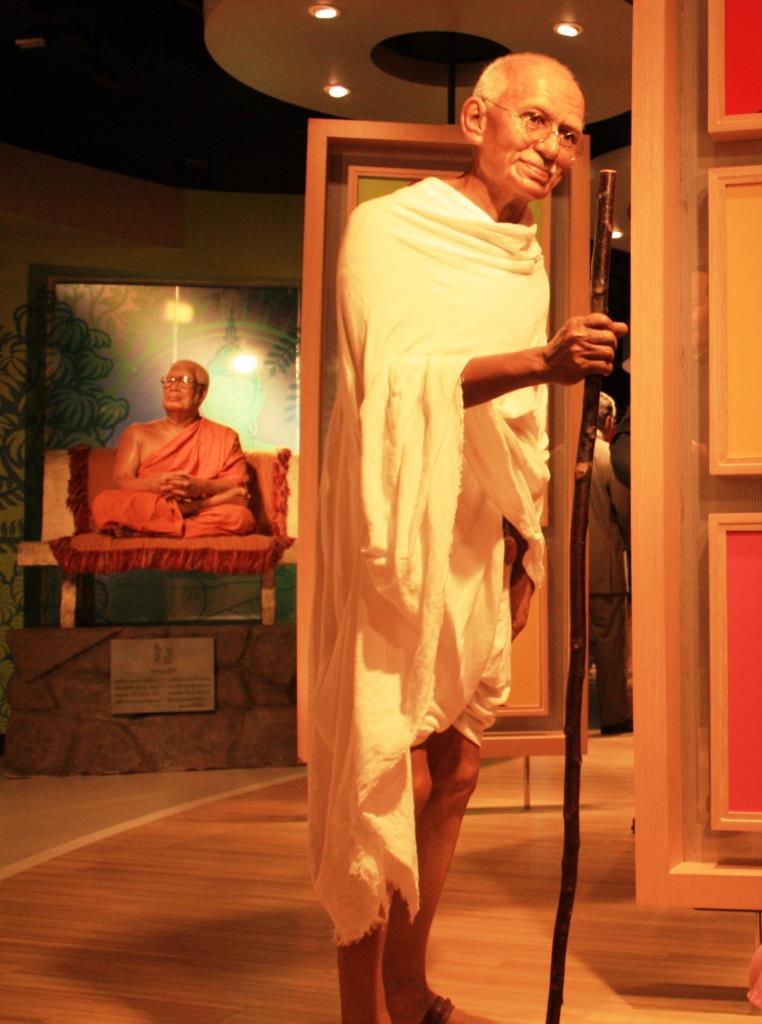 Mahatma Gandhi di Madame Tussauds. Sumber foto: Dokumen pribadi