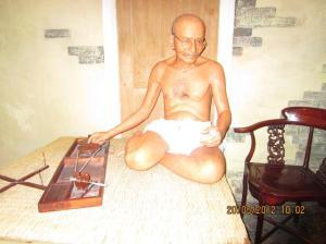Mahatma Gandhi di Wax Museum 63. Sumber foto: Dokumen pribadi