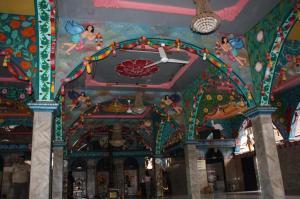 Arsitektur dalam Sri Mariamman Temple di Medan. Sumber foto: Dokumen pribadi